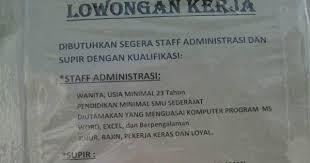 Info Lowongan Daerah Bogor Staff,Driver PT Roda Sumber Abadi