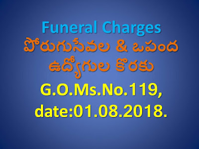 Funeral Charges for Contract Outsourcing Employees in AP | G.O.No.119 | AP Outsourcing Employees (Govt.)