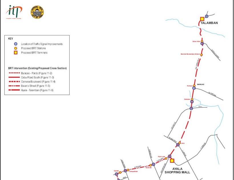 Cebu, Bohol and Lapu lapu: Bus Rapid Transport (BRT) in