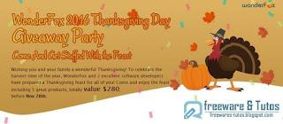 Giveaway : 5 logiciels commerciaux gratuits pour Thanksgiving !