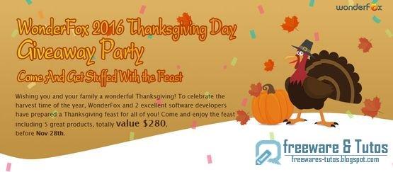Offre promotionnelle : 5 logiciels commerciaux gratuits pour Thanksgiving !