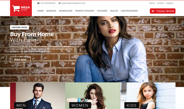 Mega Shop - Responsive Blogger template