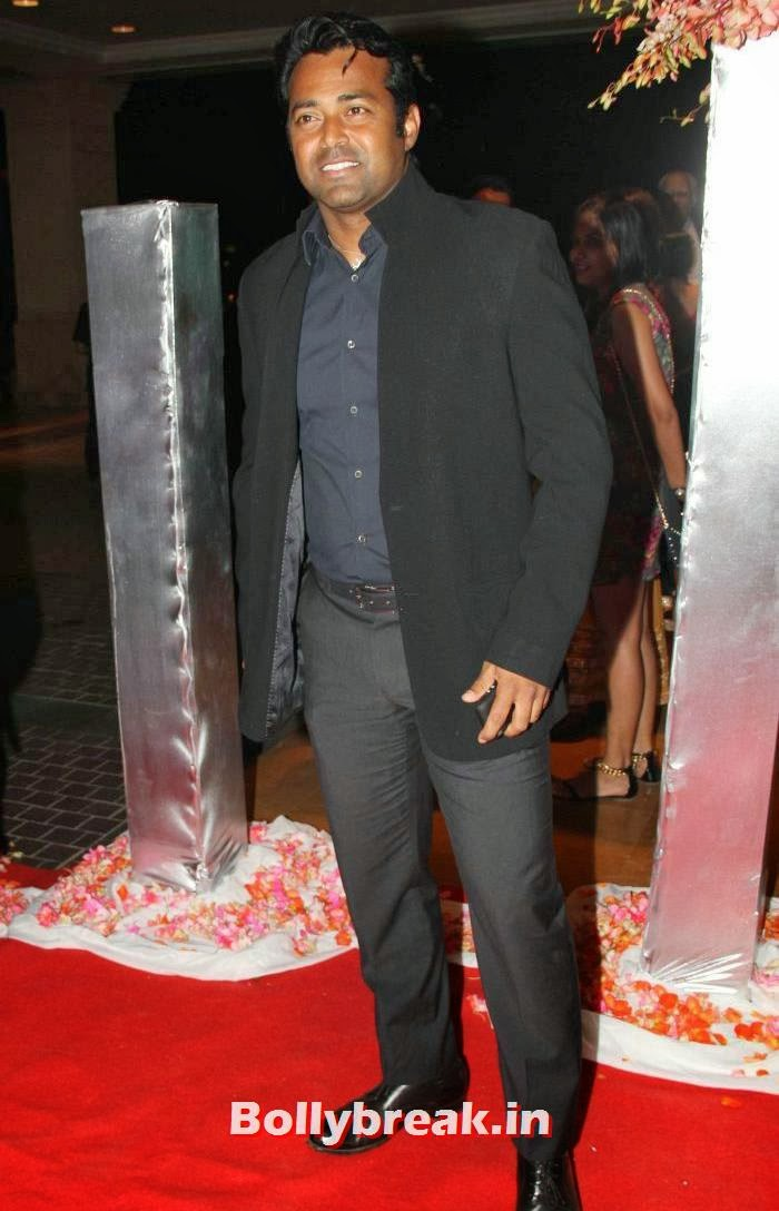 Leander Paes, Siddharth Kannan & Neha Agarwal Wedding Reception Pics