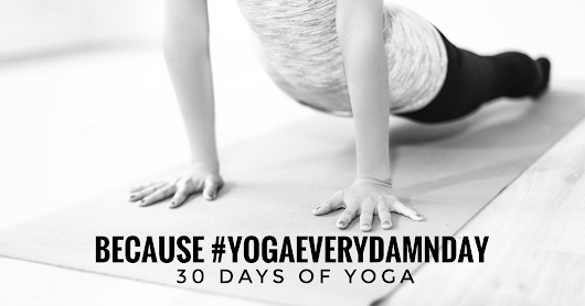 because #yogaeverydamn day // 30 days of yoga