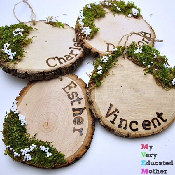 Simple Wood Slice Ornaments