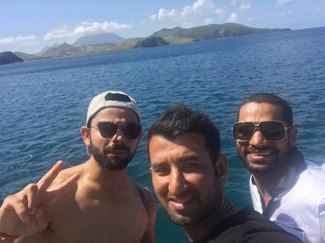 भारतीय टीम वेस्ट इंडीज़ प्रवास का उठा रही लुत्फ़
