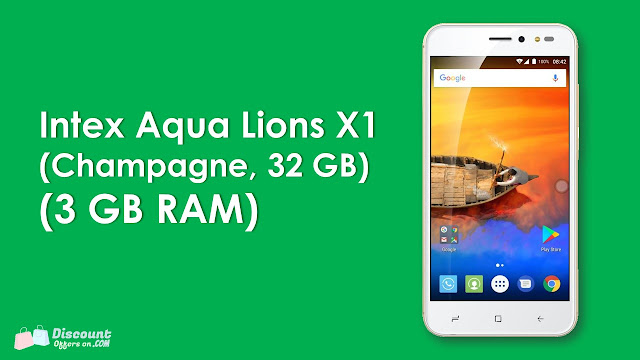 Huge discount offers on Intex Aqua Lions X1+ [32GB Internal Memory & 3GB RAM].