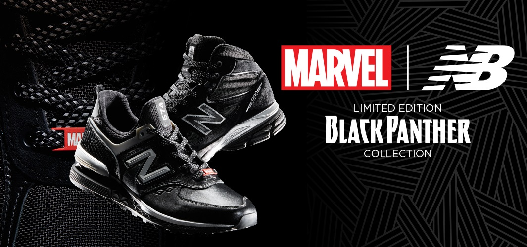 a1659454aa6 Black Panther Limited Edition Sneakers by New Balance x Marvel x Jimmy Jazz