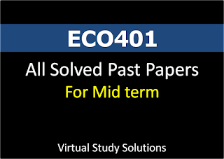 ECO401 All Solved Mid Term Past Papers in pdf format