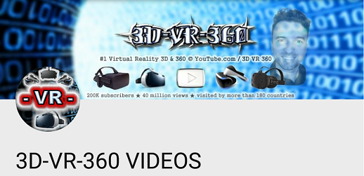 Canal 3D-VR-360 VIDEOS Youtube