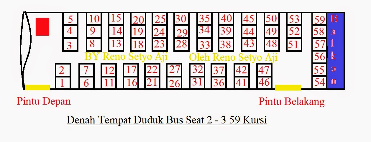 107+ Gambar Denah Kursi Bus Seat 59 Gratis Terbaru