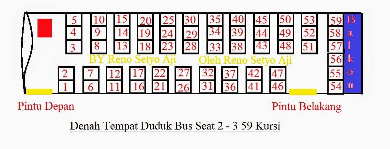 88 Gambar Denah Kursi Bus Besar Terbaru