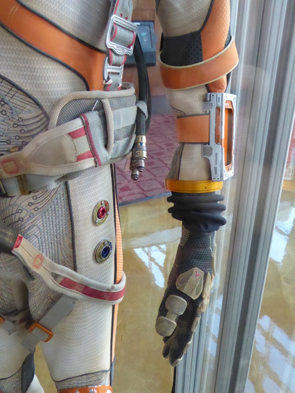 The Martian astronaut spacesuit detail