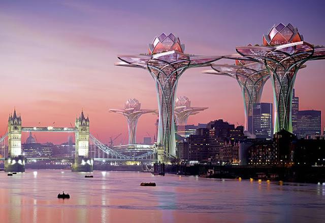 الأبراج العملاقة بشكل زهرة اللوتس megatropolis-city-in