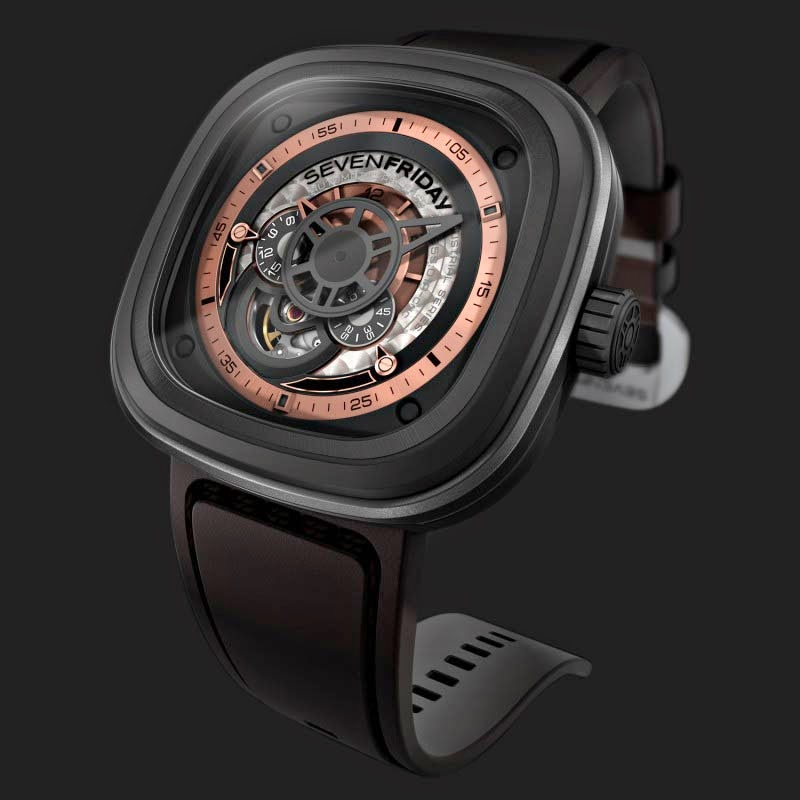 SEVENFRIDAY P2-1 Grey Rose - Industrial Revolution