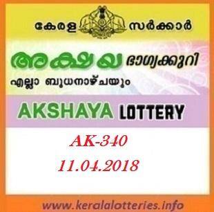 AKSHAYA (AK-340) LOTTERY RESULT