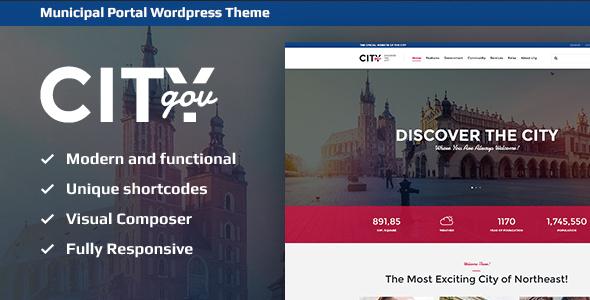 CityGov WordPress Theme Free Download