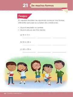 Apoyo Primaria Desafíos Matemáticos 2do Grado Bloque 2 Lección 21 De muchas formas