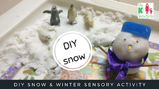 diy snow at home sensory activity the k junction