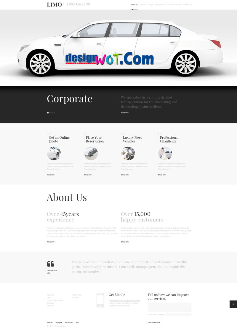 LIMOUSINE SERVICE Responsive WordPress Theme