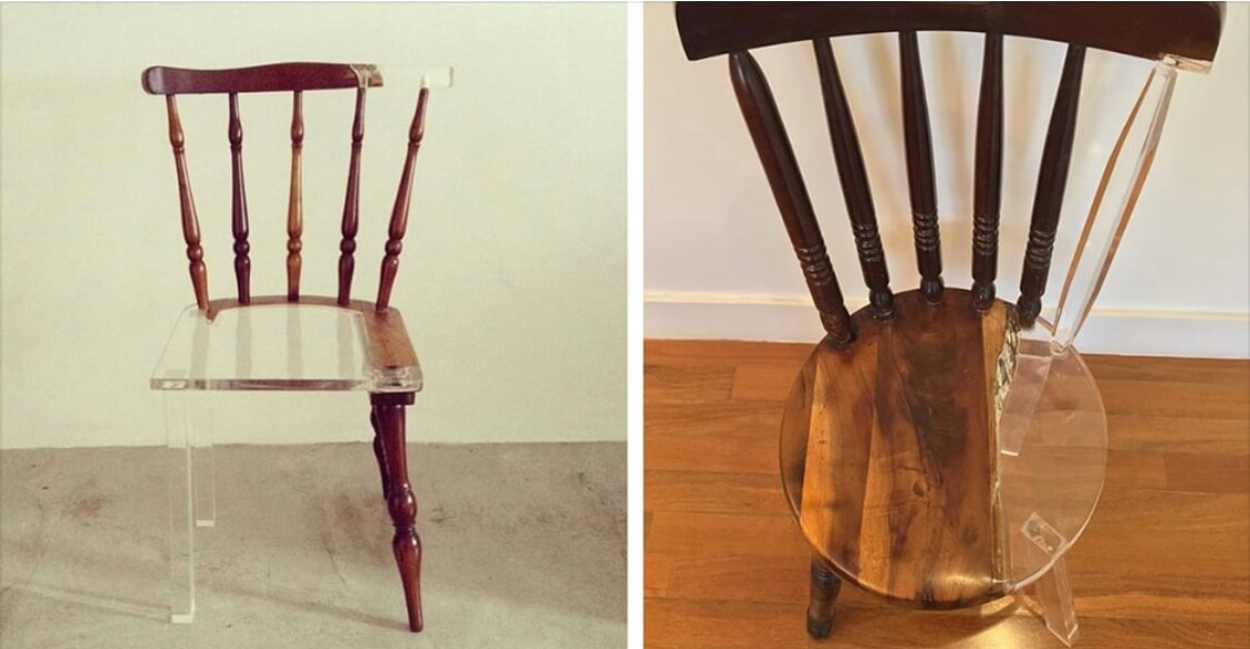 Artist Repairs Broken Wooden Furniture By Using Modern Translucent Materials