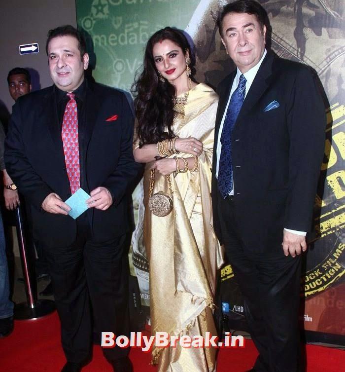 Rajiv Kapoor, Rekha, Randhir Kapoor