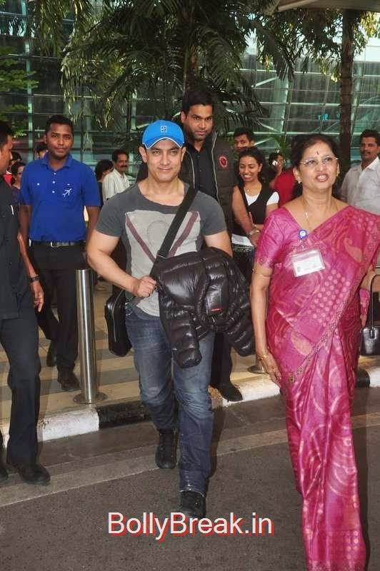 Aamir Khan snapped at the airport, Sunny Leone, Neha Dhupia, Sonakshi Sinha Snapped At DIfferent Events