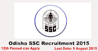 Odisha SSC Recruitment 2015