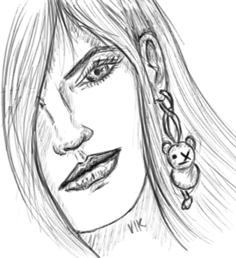 TheVikO_o was here: Girl with the Teddy ear-ring