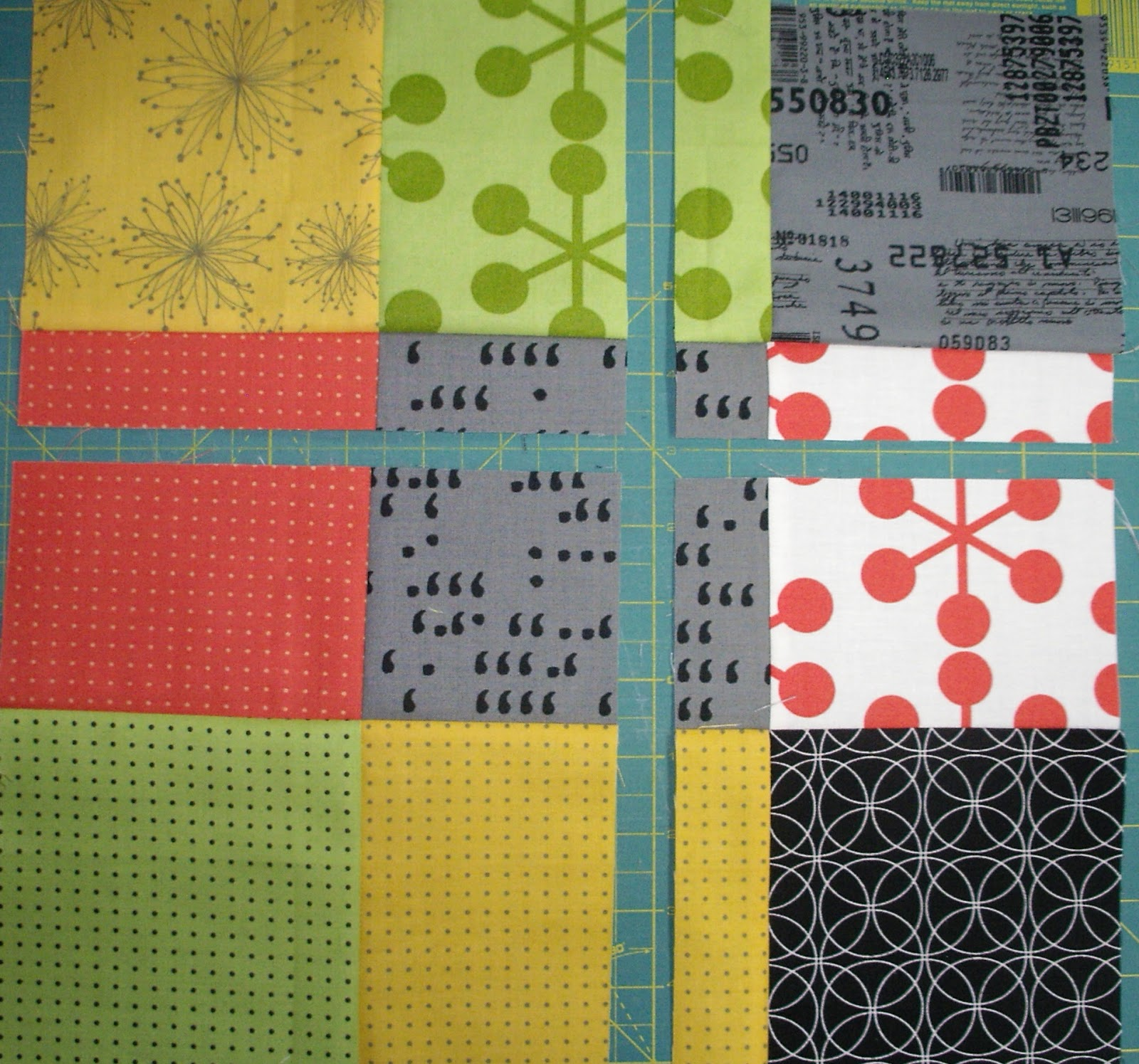 Linda S Quiltmania Fractured Nine Patch Featuring Coma