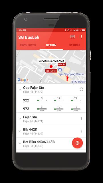 SGBusLeh App - Singapore