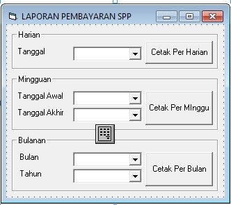Program Pembayaran SPP Lengkap Di Visual Basic 6.0
