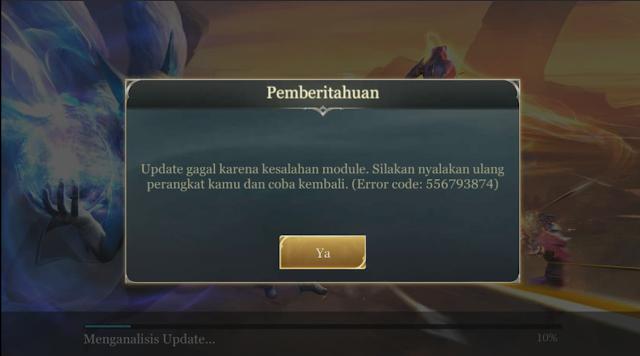 Aov Error kode 556793874 saat akan update game, Kenapa Ya ? 4