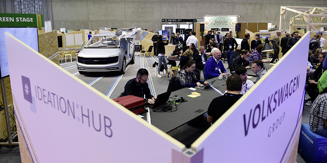 "Image Attribute: Volkswagen at ""CUBE Tech Fair 2017"": Vivid Talks between Volkswagen and start-ups. DB2017AL00483"