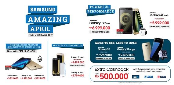 Promo 9 Samsung Galaxy di Erafone (Hadiah Langsung dan Cashback)