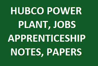 Hub Power Company commonly provides career opportunities for apprenticeship for DAE mechan HUBCO Power Plant Jobs Location Capacity Apprenticeship Pattern Papers, Test & Notes