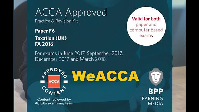 ACCA F6 Taxation FA 2016 Revision Kit 2017