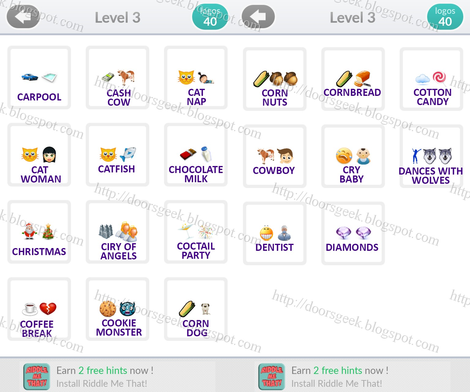 Logo Quiz Emoji Level 3 Answers By Bubble Quiz Games