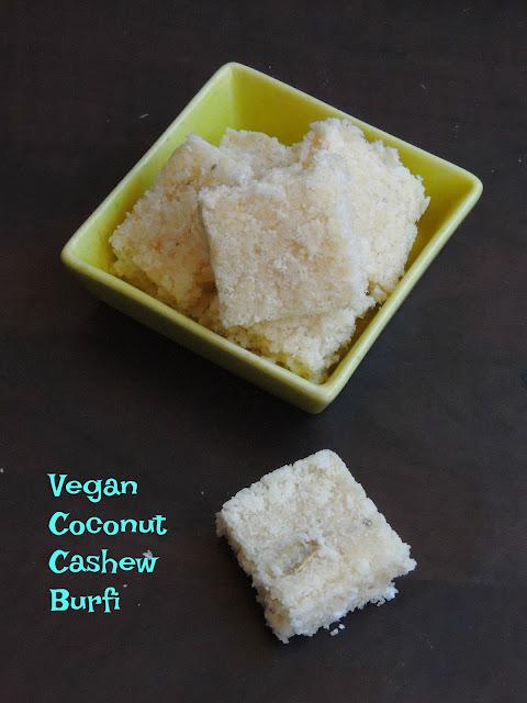 Vegan Coconut Cashew burfi