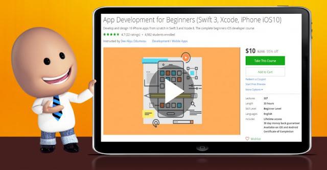 [95% Off] App Development for Beginners (Swift 3, Xcode, iPhone iOS10)  Worth 200$