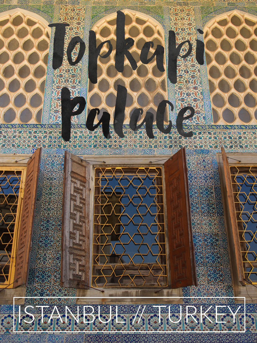a must-do in Turkey: take in all the textures and patterns of the stunning Topkapi Palace in Istanbul.