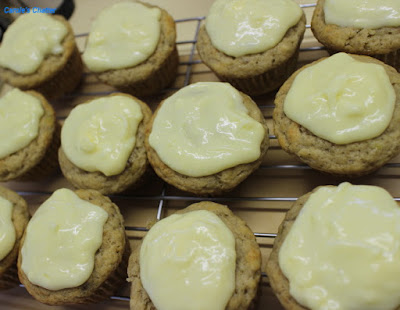 Carole's Chatter: Banana Muffins with Lemon Cream Cheese Icing