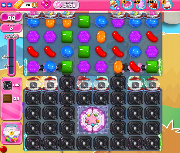 Candy Crush Saga level 2436