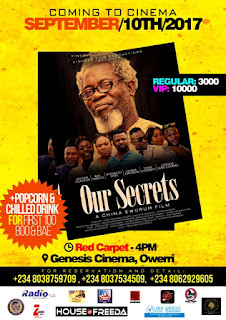 Chima Ewurum's 'Our Secrets' premiers on Genesis Cinema Owerri, Sept 10 2
