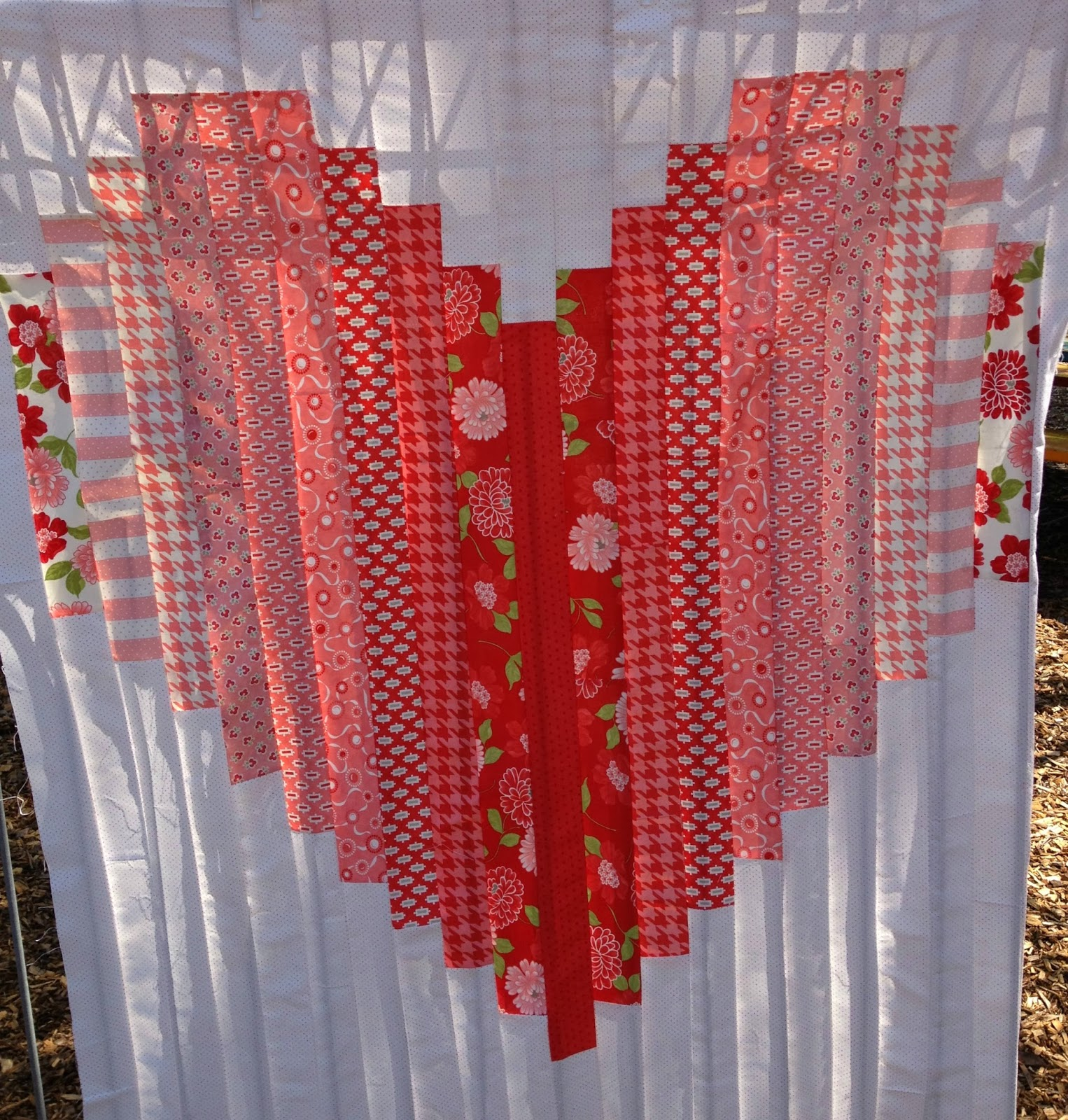 5bent Needles Love Heart Quilt