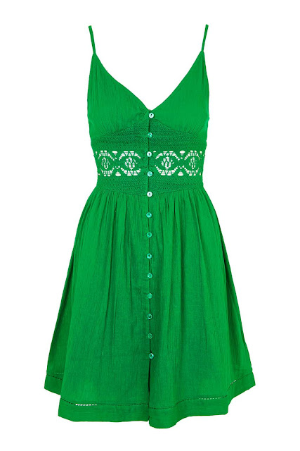 green summer dress, green sundress, button down green dress, green crochet dress,
