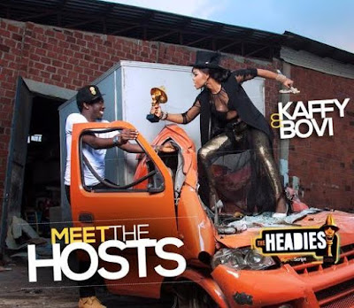Kaffy & Bovi unveiled as the hosts of Headies, see their lovely shoot together