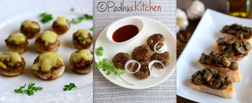 Mushroom Snacks-Mushroom recipes for snacks-starters