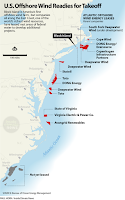 U.S. Offshore Wind Readies sor Takeoff (Credit: Bureau of Ocean Energy Management) Click to Enlarge.
