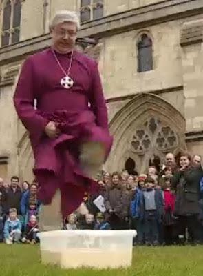 bishop jumping on custard